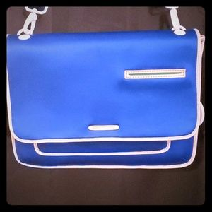 Juicy Couture Neoprene Blue Laptop Messenger Bag